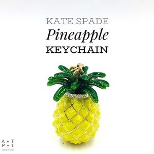 Kate Spade Jeweled Pineapple Keychain